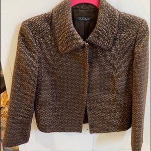 Brown Tweed Tahari jacket